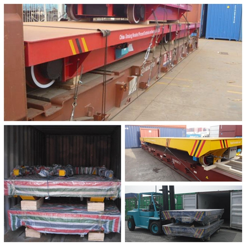 Good Package Delivery Of Electric Transfer Rail Trailer