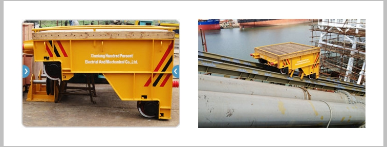 Shipbuilding Cable Powered Rail Transfer Trolley
